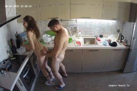 spy cam sex kitchen